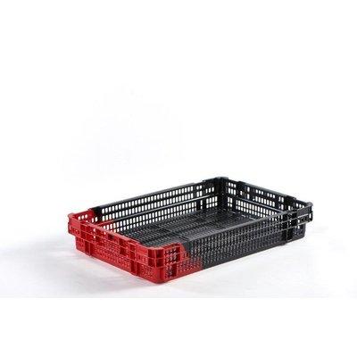 Bac plastique emboîtable et empilable 18.5L - 600x400x100mm