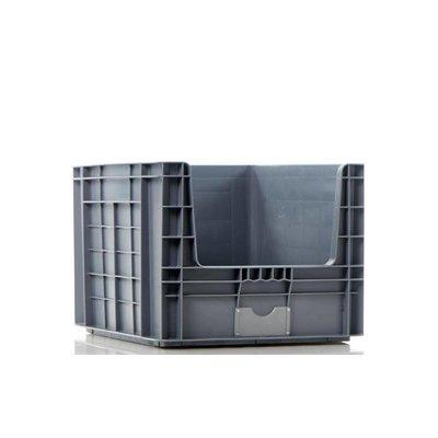 Bac plastique Euronorm 605x497x401mm équipé de poignées