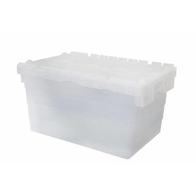 Bac en plastique transparent emboîtable et empilable 600x400x320mm