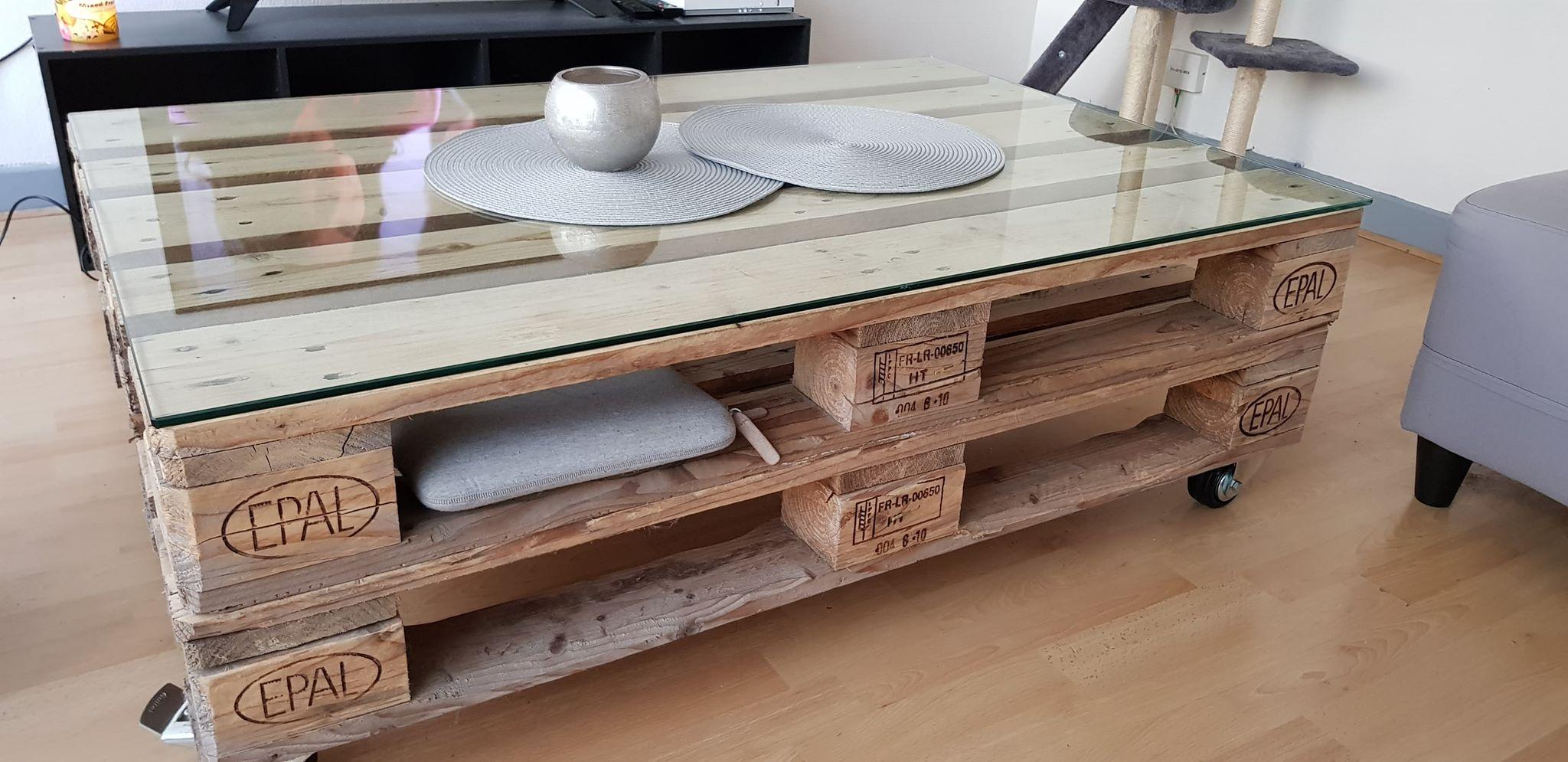 Table basse en palettes 1200x800 mm