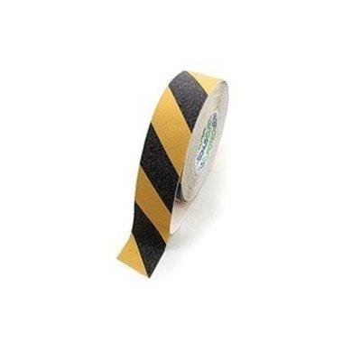 Adhésif anti-dérapant 50m - jaune et noir