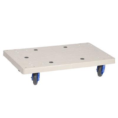Support roulant en plastique 710x455x170mm - plancher plein