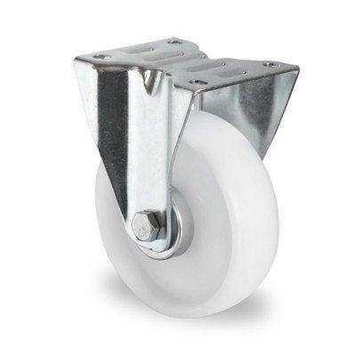 Roue fixe diamètre 125 mm avec roulement à rouleaux - PP