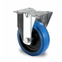 Roulette fixe de diamètre 125mm avec roulement à billes - PA/Caoutchouc