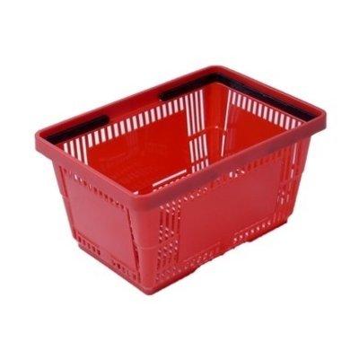 Panier à main 485x330x250mm - rouge, 34 litres