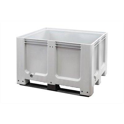 Caisse-palette plastique 1200x1000x760mm - 3 semelles