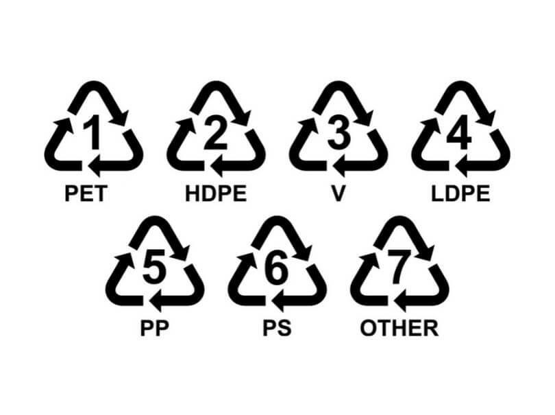 Différents plastiques