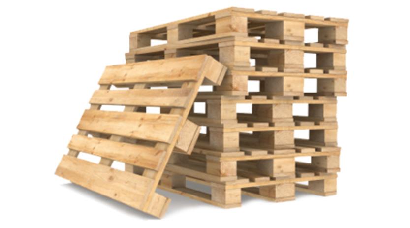 Palettes de manutention en bois