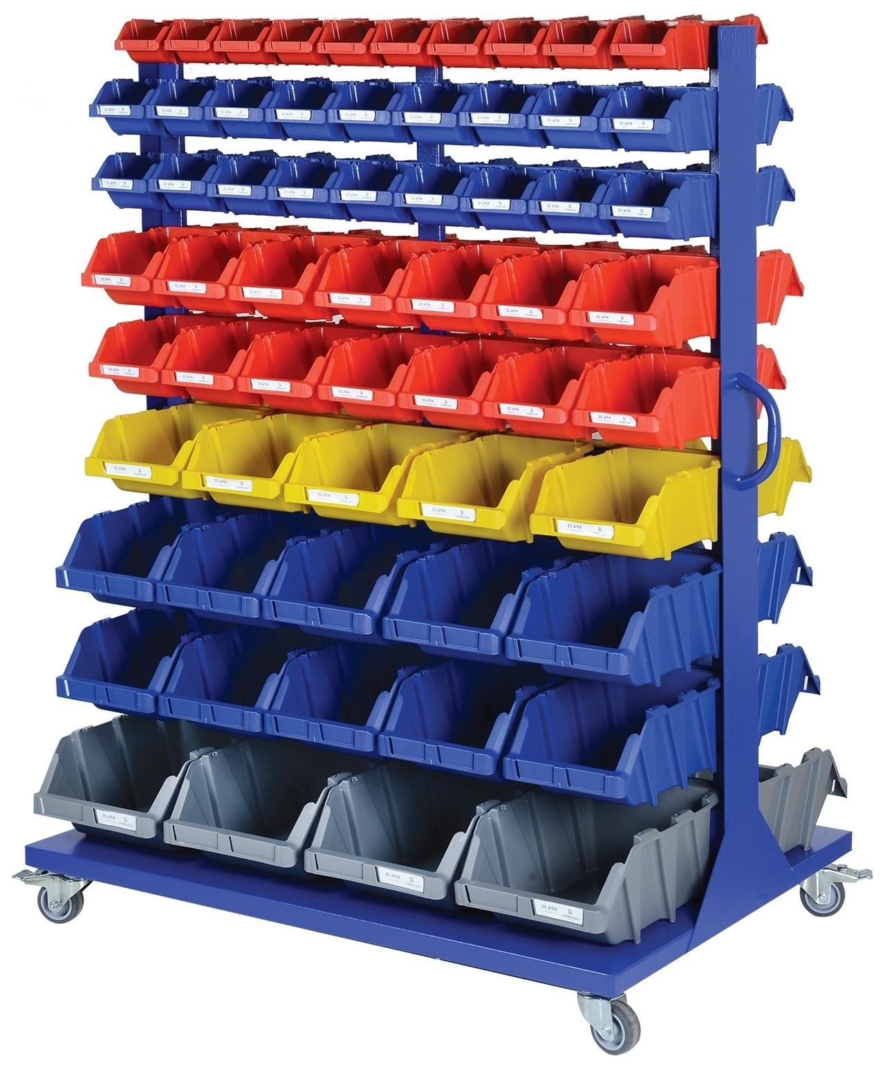 Etagères à roulettes avec bacs à bec - Rotomshop.fr