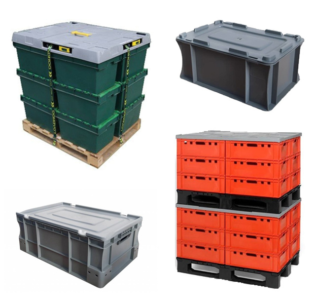 Sécurisez vos marchandises stockés dans des Caisses avec un Couvercle en plastique