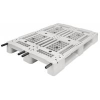 Kunststoffpalette, 3 Kufen, offenes Deck, 1200x800x150mm