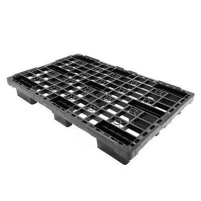 Kunststoffpalette, 9 Füße, nestbar, offenes Deck, 1200x800x155mm