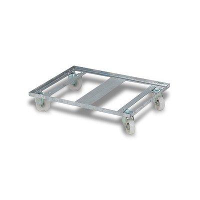 Transportroller aus Metall, für Eurobehälter, 800x600x150mm
