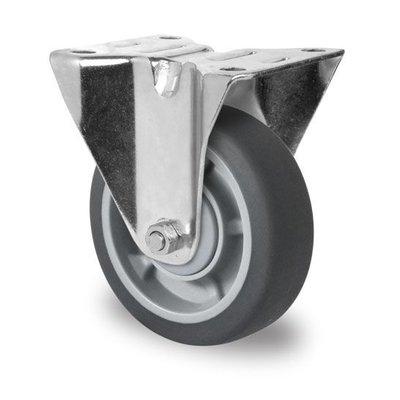 Bockrolle mit Kugellager für Rollbehälter, PP / TPR, 100mm Durchmesser