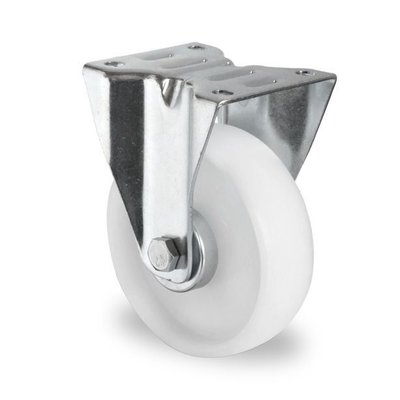 Bockrolle mit Rollenlager für Rollbehälter, PA, 125mm Durchmesser