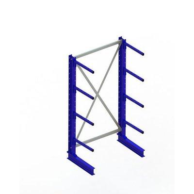 Kragarmregal, einseitig, lackierter Stahl, mit 4 Kragarmen, 1000x500x2000mm