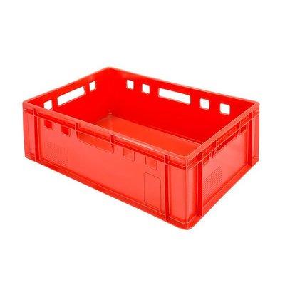 Euronorm E2 Behälter, 40 Liter, rot, geschlossen, stapelbar, 600x400x200mm