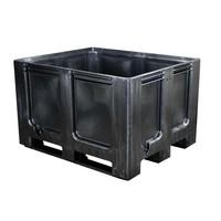 Palettenbox, geschlossen, 3 Kufen, 1200x1000x760mm