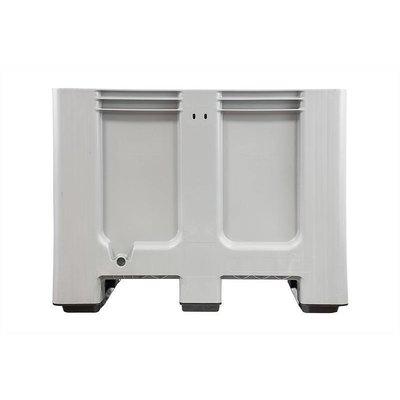 Palettenbox gebraucht, 610 l, geschlossen, HDPE-Kunststoff, 3 Kufen, 1200x1000x760mm