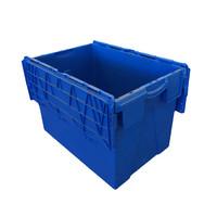 Kunststoffbehälter gebraucht, nestbar, Klappdeckel, 600x400x400mm