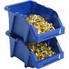 Sichtlagerbox mit Grifföffnung, stapelbar, nestbar, 244x153x123mm