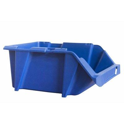 Sichtlagerbox mit Grifföffnung, stapelbar, nestbar 300x200x130mm