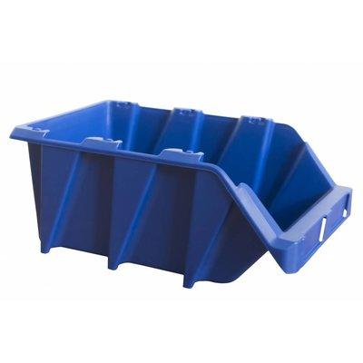 Sichtlagerbox mit Grifföffnung, stapelbar, nestbar 360x218x156mm