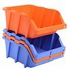 Sichtlagerbox mit Grifföffnung, stapelbar, nestbar 420x265x178mm