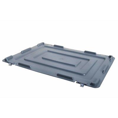 Kunststoffdeckel für Eurobehälter, 2 Scharniere, 400x300x19mm