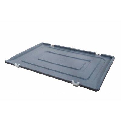 Kunststoffdeckel für Eurobehälter, 2 Scharniere, 600x400x19mm
