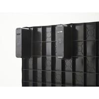 Palet de plástico encajable 1200x800x155mm plataforma cerrada