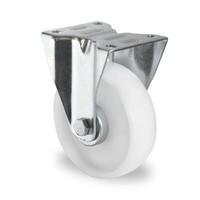 Rueda fija Ø 125 mm con rodamiento rodillo y rodadura PA