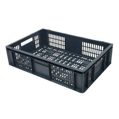 Caja apilable Euronorm 600x400x150mm rejilla
