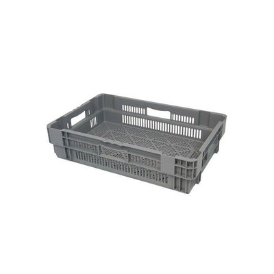 Caja gira y apila de rejilla 600x400x144mm
