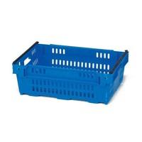 Caja de plástico apilable 600x400x300mm rejilla