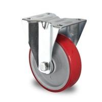 Rueda fija Ø 100mm rodamiento bola y rodadura PA/PU