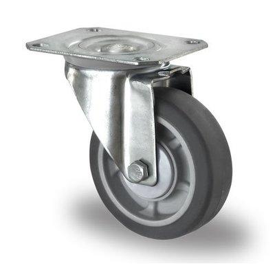 Rueda giratoria Ø 100mm rodamiento bola y rodadura PP/TPR
