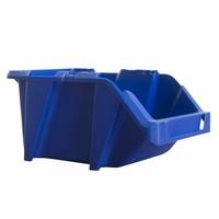 Caja de plástico apilable y encajable 195x125x100mm con apertura