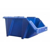 Caja de plástico apilable y encajable 244x153x123mm con apertura