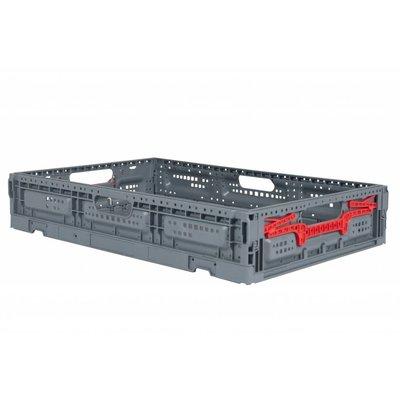 Caja de plástico plegable 600x400x115mm perforada