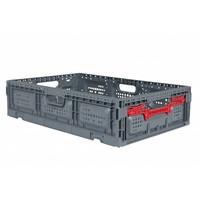 Caja de plástico plegable 600x400x150mm perforada
