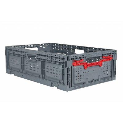 Caja de plástico plegable 600x400x185mm perforada