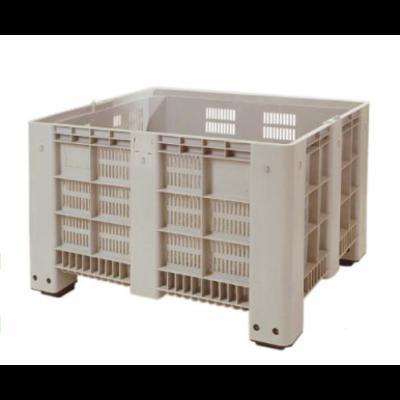 Cajón de plástico 1200x1000x760mm 4 apoyos perforado