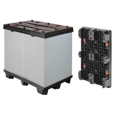 Paletbox de plástico plegable 1200x800x1000mm usado