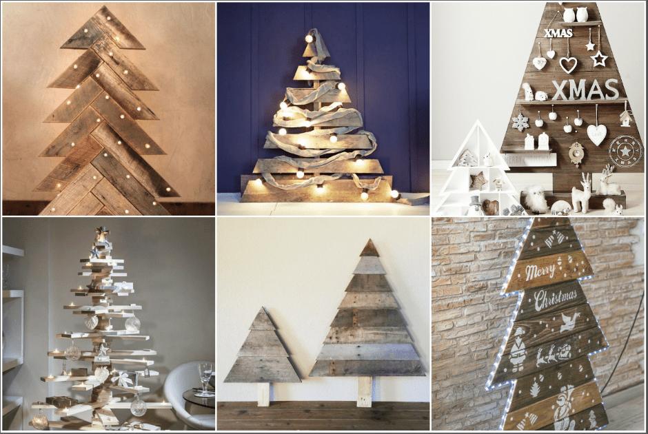 ¿Cómo hacer un árbol de Navidad con palets?