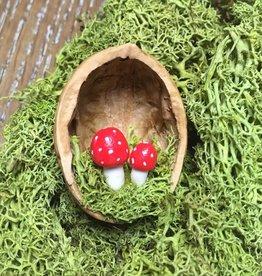 Sveja Babywearing Miniatur-Fliegenpilze Walnuss