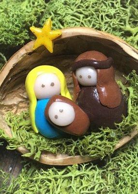 Sveja Miniatur-Weihnachtskrippe  Walnuss