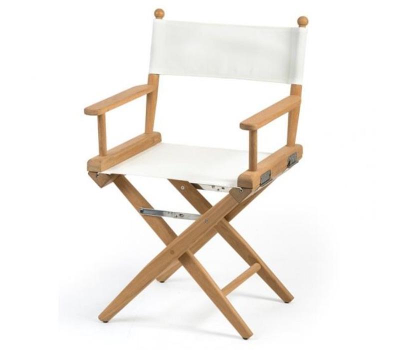 Regisseursstoel wit batyline