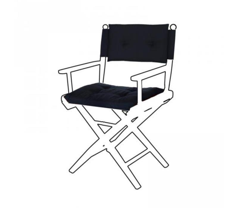 Deluxe kussens voor regisseursstoel I - donkerblauw