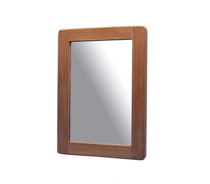 Teak spiegel 25 x 18 cm
